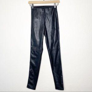 H&M Divide Black Faux Leather High Waist Leggings